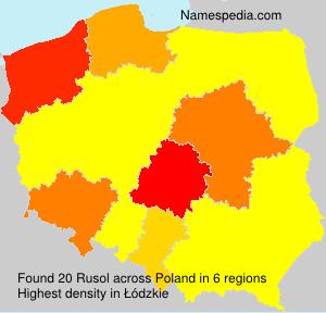 Surname Rusol in Poland