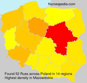 Familiennamen Russ - Poland