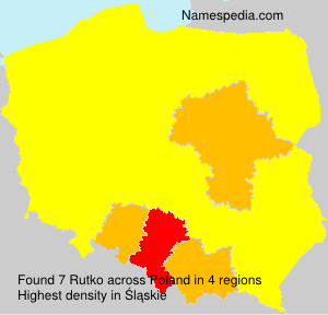 Surname Rutko in Poland
