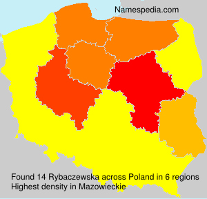 Familiennamen Rybaczewska - Poland