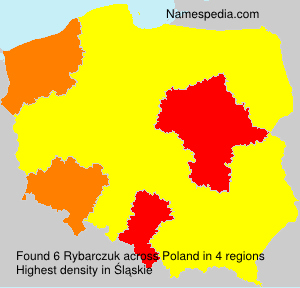 Surname Rybarczuk in Poland