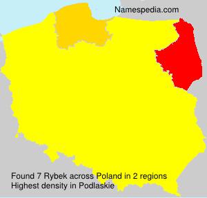 Familiennamen Rybek - Poland