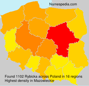 Surname Rybicka in Poland