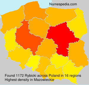 Surname Rybicki in Poland