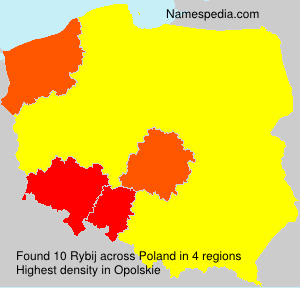 Surname Rybij in Poland