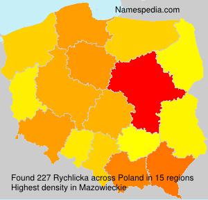 Familiennamen Rychlicka - Poland