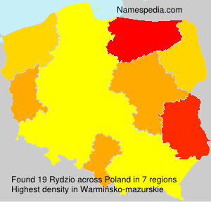 Surname Rydzio in Poland