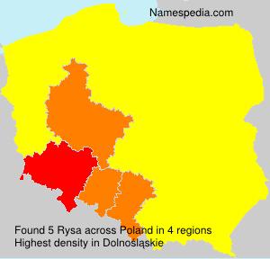Surname Rysa in Poland