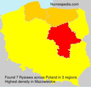 Surname Rysiawa in Poland