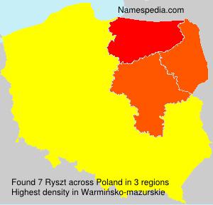 Surname Ryszt in Poland