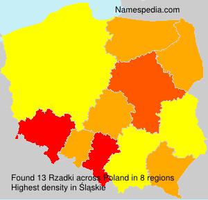 Surname Rzadki in Poland