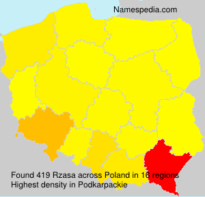 Surname Rzasa in Poland