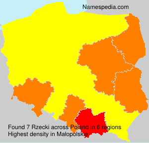Surname Rzecki in Poland
