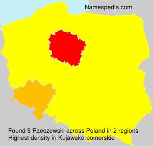 Surname Rzeczewski in Poland