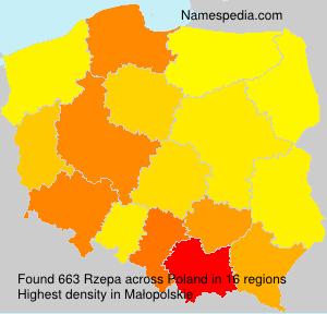 Familiennamen Rzepa - Poland