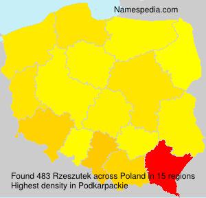 Surname Rzeszutek in Poland