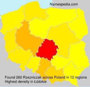 Familiennamen Rzezniczak - Poland