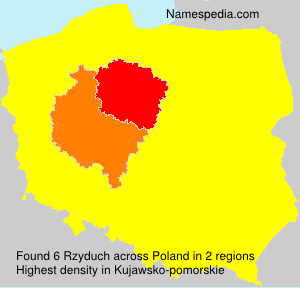 Surname Rzyduch in Poland