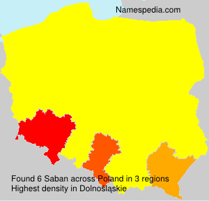 Surname Saban in Poland