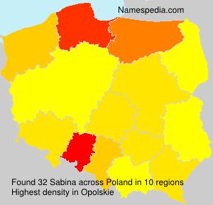 Surname Sabina in Poland