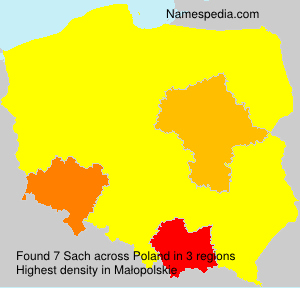 Surname Sach in Poland