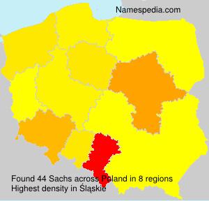 Familiennamen Sachs - Poland