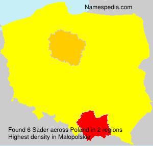 Familiennamen Sader - Poland