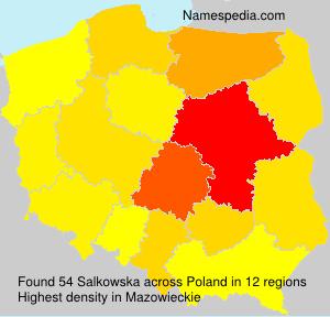 Surname Salkowska in Poland