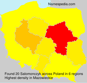 Surname Salomonczyk in Poland