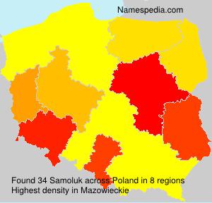 Surname Samoluk in Poland