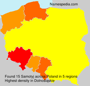 Surname Samotyj in Poland