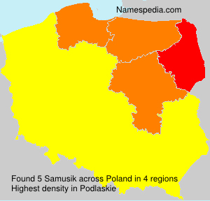 Surname Samusik in Poland