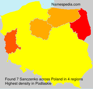 Surname Sanczenko in Poland