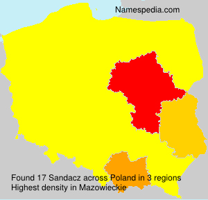 Surname Sandacz in Poland