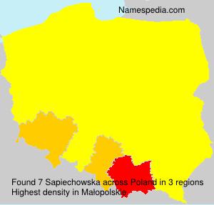 Surname Sapiechowska in Poland