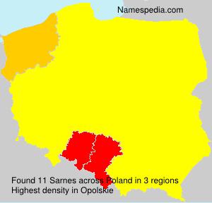 Surname Sarnes in Poland