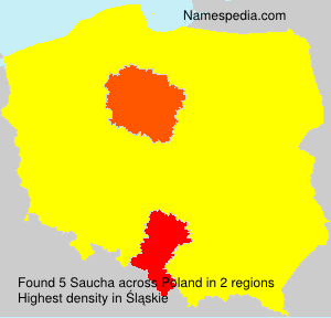 Surname Saucha in Poland
