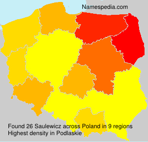 Familiennamen Saulewicz - Poland