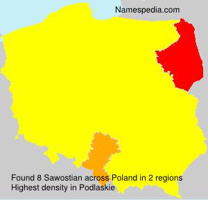 Familiennamen Sawostian - Poland