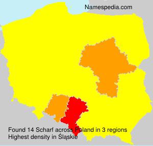 Familiennamen Scharf - Poland