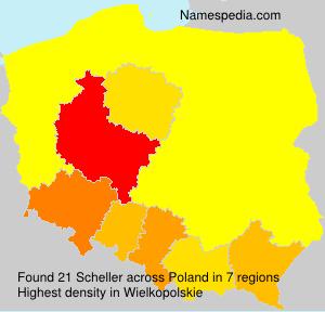 Surname Scheller in Poland