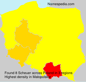 Surname Scheuer in Poland