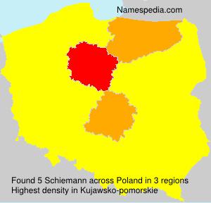 Surname Schiemann in Poland