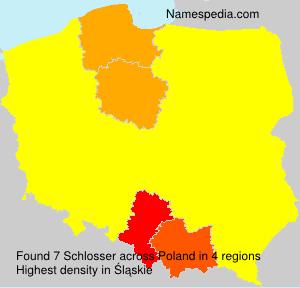 Surname Schlosser in Poland