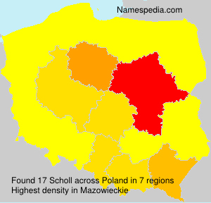 Surname Scholl in Poland