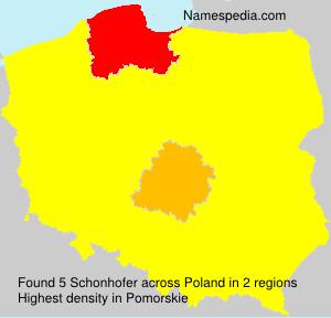 Surname Schonhofer in Poland