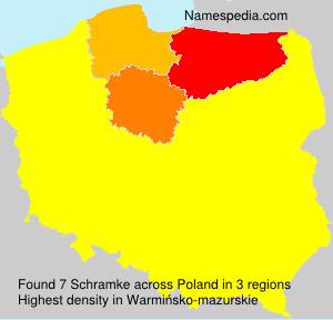 Surname Schramke in Poland