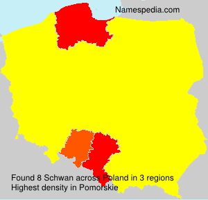 Surname Schwan in Poland