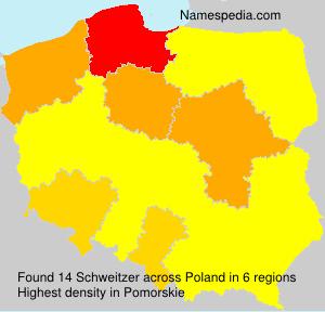 Surname Schweitzer in Poland