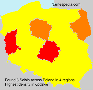 Surname Sciblo in Poland
